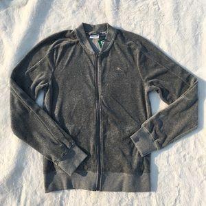 NWT puma velour grey track jacket